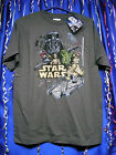 Star Wars Childs T Shirt Size L or XL Skywalker Yoda Falcon Boba Charcoal Color