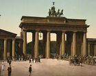 Brandenburg Gate in Berlin Germany photochrom 1890-1900 Photo Print