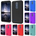 For ZTE Imperial Max / Max Duo 4G LTE Rugged Thick Silicone Grip Soft Case Cover