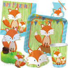 FOREST FOX Birthday Party Range - Tableware Balloons Banners & Decorations