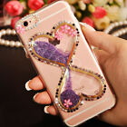 Dynamic Liquid Quicksand bling Diamond Back Case Cover For iPhone 6 6s 7 Plus