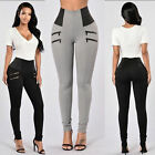 US STORE Women Pencil Stretch Denim Skinny Jeans Pants High Waist Jeans Trousers