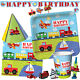ON THE GO Birthday Party Range - Planes Trains Tableware Balloons & Decorations