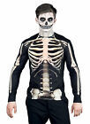 MENS DELUXE SKELETON T SHIRT FANCY DRESS HALLOWEEN COSTUME 3D BONES NEW M,L,XL