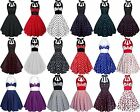 ROCKABILLY 50ER POLKA DOT VINTAGE RETRO GOTHIC PINUP PETTICOAT PARTY TANZ KLEID