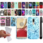 For Motorola Moto M XT1662 Art Design TPU Soft SILICONE Rubber Case Cover + Pen