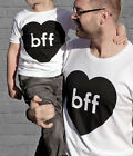Father and Son Matching Kids Boy Girls Tops Romper Men T-shirt Clothes US STOCK