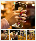 Mirror Girly Diamond Bling Chain Bracelet For iPhone 7 6 Plus Phone Case Cover