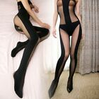 Sexy Lingerie Babydoll Hot Teddy Bodysuit Sheer Opaque BODYSTOCKING OPEN Crotch