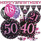 PINK CELEBRATION Birthday Party Range - Tableware Balloons Banners & Decorations