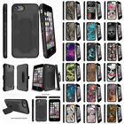 "For Apple iPhone 7 (4.7"") Slim Shock Impact Kickstand Clip Case Unique Designs"