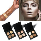 4 Color Shimmer/ Matte Highlighter Bronzer Eyeshadow Pressed Powder Palette