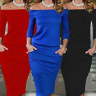 USA Womens Bandage Bodycon Long Sleeve Evening Party Cocktail Pencil Mini Dress
