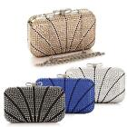 Crystal/ Rhinestone Embellishment Evening Clutch Bag -4 Colors for Choose
