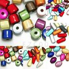 Mixed Acrylic Illusion Miracle Beads Spacer Cylinder/Teardrop/Oval/Capsule