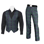 New Scottish Tartan Trews and Waistcoat Bundle - Black Watch - Choose Size