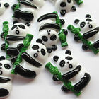 10/20/100pcs Panda W/ Bamboo Resin Flat Back Flatback Craft Kid Scrapbooking