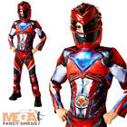 Deluxe Red Boys Power Ranger Fancy Dress Movie Character Childs Kids Costume