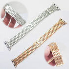 For Apple Watch 1st/2nd Gen!Stylish SS Steel Beads Replacement Bracelet+Buckle