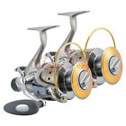 Внешний вид - 2x YOSHIKAWA Surf Spinning Fishing Reels Baitfeeder Saltwater Carp Catfish 11BB