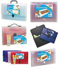 EXPANDING FILES Organiser Folder Document Pocket Subject Storage Wallet{Tiger}
