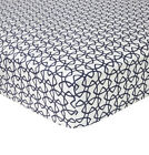 YVES DELORME ENTRELACS FITTED SHEET IN PRINTED EGYPTIAN COTTON SATEEN