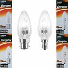 Energizer Halogen Energy Saving BC B22 SES E14 Candle Warm White Lamp Light Bulb