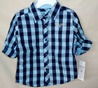 GUESS 100% Cotton Roll Sleeve Button Front BUFFALO Check Shirt BOY SIZE 3T NWT