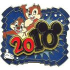 Disney White Glove Dated 2010 Chip and Dale Limited Edition 750 pin