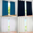 Solid Chic Curtains Eyelet Ring Top Panels Net For Living Room Bedroom