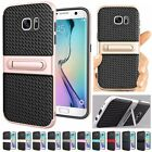 PC+TPU Shockproof Armor Hybrid Stand Rugged Rubber Back Case Cover For Samsung