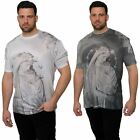 Juice King Plus Size Mens Short Sleeve T-Shirt Crew Neck Printed Top Tee 2XL-5XL