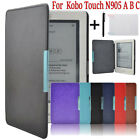 Magnetic Folio Leather Cover Smart Case For Kobo Touch N905 A B C eReader 6 INCH