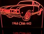 "1968 Oldsmobile 442 +Strp Olds Lighted Led Sign 11-13"" Pl..."