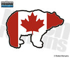 Bear Decal Canada Flag Canadian Grizzly Hunter Gloss Vinyl Sticker (RH) H1G