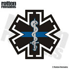 Tactical Star of Life Thin Blue Line Decal EMT TEMS Paramedic Gloss Sticker H1G