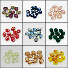 New Colorful 10pcs 9x12 Faceted Oblong Cut Glass Crystal Loose Spacer Oval Beads