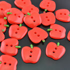 20/100pcs Resin Red Apple  Flatback Button Craft Appliques 20x20mm JOB134