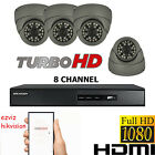 8CH DVR HIKVISION HDMI 4X HD 1080P CCTV SYSTEM DOME EYEBALL CAMERA NIGHT VISION