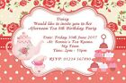 6x4 Vintage Afternoon Tea Party Invitations Personalised Birthday Party Invites