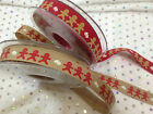 Berisfords Festive ribbons - GINGERBREAD MAN 2 colours & various lengths - 15mm