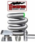 5.5 in. 316 Flexible Chimney Liner Tee Kit or Insert Kit with Optional Insulatio