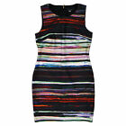 Tommy Hilfiger Womens Dress Black Multicolor Sleeveless 10 12 Lined New Nwt