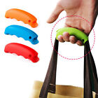 2 pcs Shopping Bag Silicone Lifting Holder Handle Grip Easy Carrying Colors