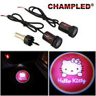 CHAMPLED for HALLO KITTY LED Door Projector Logo Shadow Car Tuning lights emblem