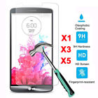 5X 9H+ Real Tempered Glass Film Screen Protector Guard Cover For LG G3 K10 V10