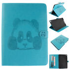 Cute Panda Embossed Flip Magnetic PU Leather Stand Cards Cover Case For Tablets