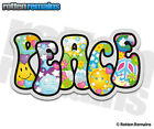 Peace Psychedelic Decal World Hippie Love Happiness Gloss Vinyl Sticker H1G