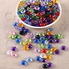 100pcs 10mm Round Faceted Round Acrylic Plastic Spacer Beads Bracelet Jewelry H