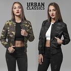 Urban Classics Damen Camo Light Bomberjacke Harrington Jacke Army Fliegerjacke